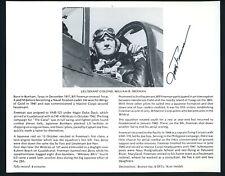 Jefferson Dorrah DECEASED WWII Fighter Pilot Ace-6V Signed 8x10 Bio Photo
