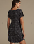 M /& S COLLECTION BLACK MIX CHROMATIC STAR PRINT NIGHTDRESS