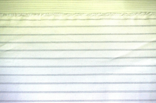 """100/% Silk Fabric Luxury Pre-dyeing Beige Color Black Striped Up to 45/"""" KOREAmade"""