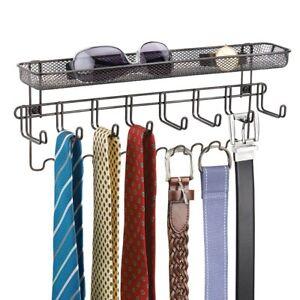 Tie Belt Hanger Rack Shelf Necktie Holder Closet Organizer Wall
