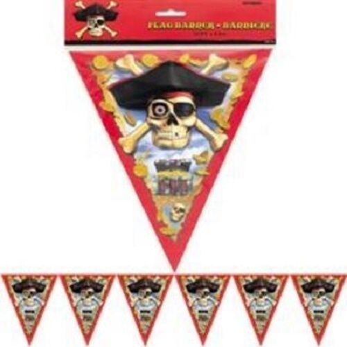 Pirate Bounty Birthday Party Flag Banner 3.6 Meters New Sealed in Pack