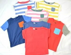 Single Item Plain Long Sl Baby /& Boys NEW Ex Mini Boden T-Shirt Top Age  2-3