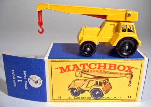 MATCHBOX rw 11c Jumbo Crane 1. exécution complètement en Jaune NOUVEAU EN BOX