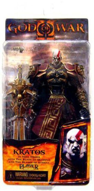 Neca God Of War 2 Kratos Action Figure Ares Armor Version 2 For Sale Online