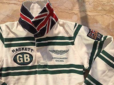 Costante Aston Martin Racing - Hackett: Superbe Polo GarÇon GriffÉ British Flag 7-8 Ans