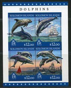 SOLOMON-ISLANDS-2016-DOLPHINS-SHEET-MINT-NH