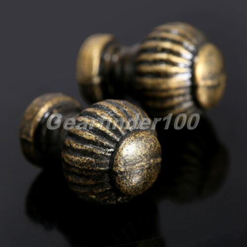 6Pcs Vintage Brass Door Knob Kitchen Box Drawer Cabinet Cupboard  Pull Handle HQ