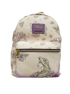 New Loungefly Disney Tangled Rapunzel Floral Sketch Mini Backpack Nwt Ebay
