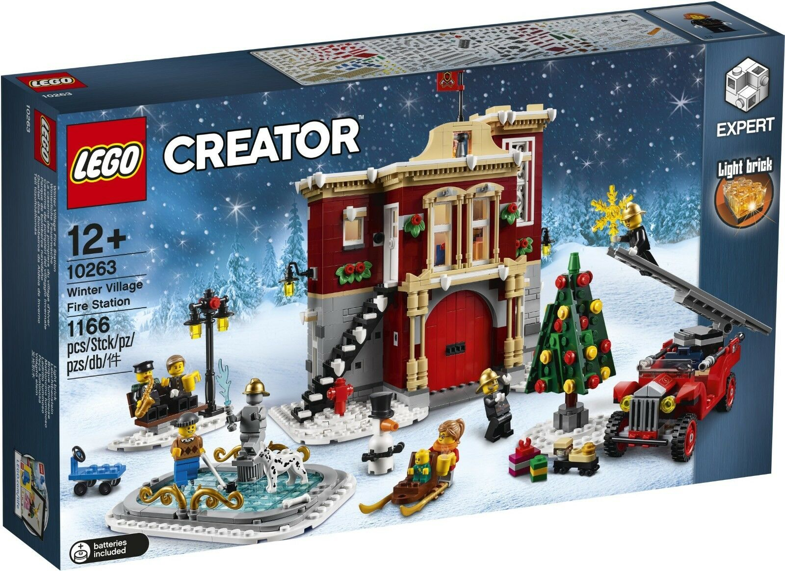 Lego 10263-Creator Expert-Hiver Village Fire Station-DGSIM-nouveau 1