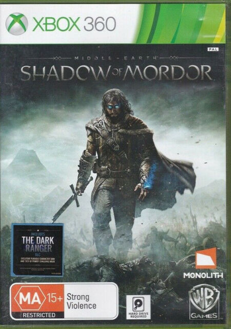 Middle Earth : Shadow of Mordor : Xbox 360 (4, Game, 2 Disc Set,Microsoft, PAL)