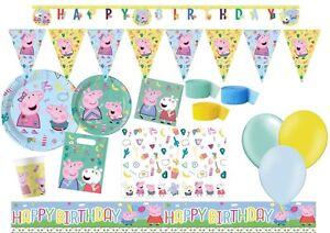 Peppa Pig George Fete D Anniversaire Vaisselle Fournitures Decoration Ebay