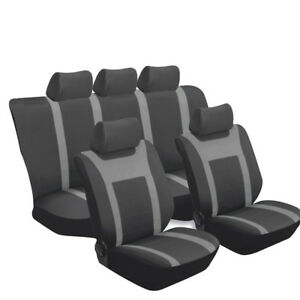 Breathable-mesh-Car-Seat-Cover-front-rear-black-amp-gray-four-seasons-Universal