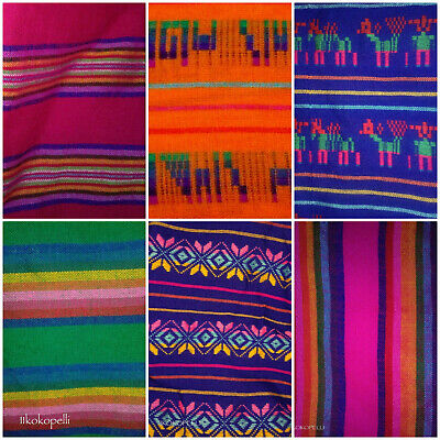 1 Panel Of Religious Lady Guadalupe Mexican Fabric Ethnic Folk Textiles