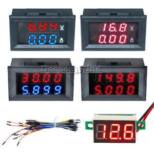DC-0-200V-100V-10A-3Bit-4Bit-Voltmeter-Ammeter-Red-Red-Red-Blue-LED-Amp-Wires