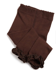 JEFFERIES Pima Cotton Footless Ruffle Ankle Length Tights fits 2 to 10 years