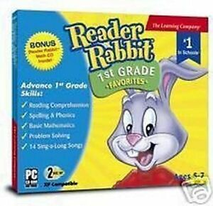 Reader-Rabbit-1st-Grade-Favorites-Reading-Spelling-Phonics-amp-Math-New-2-CD-Set