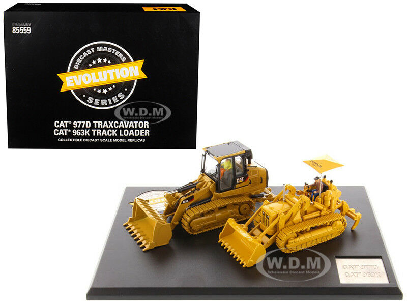 Cat Caterpillar 977D excavadora y 963K Cargador de pista 1 50 Diecast Masters 85559