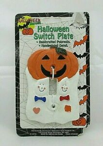Halloween Pumpkin Ghost 3d Resin Single Light Switch Wall Plate Cover China Ebay