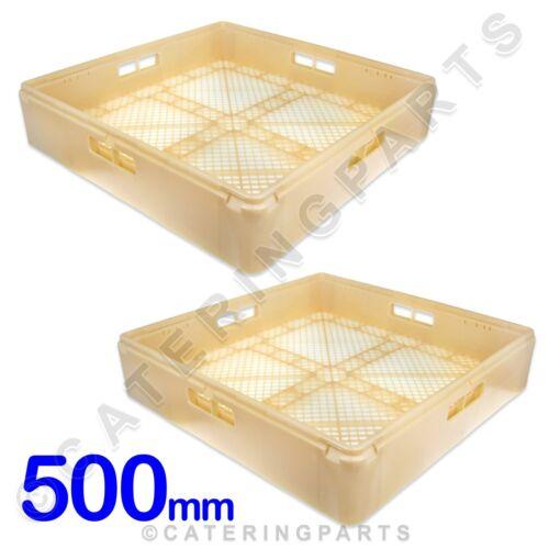 Carré Ouvert Couverts pliables Pack de 2 X paniers 500 mm x 500 mm x 105 mm Lave-vaisselle