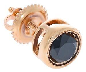 a88179f48 Prism Jewel Bezel Set Round Black Diamond Screw Back Single Stud ...