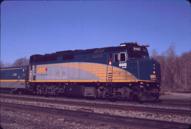 VIA RAIL F40PH-3 6445 ORIGINAL SLIDE