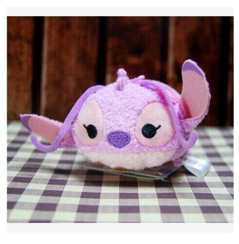 "New Disney TSUM TSUM Stitch Angel Scrump Mini Plush Toys Screen Cleaner 3.5/""//9cm"