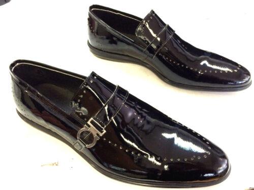 Lacca Leather Italian Real suola nera Sneaker Designer Handmade piatta nero PEq7Wq8Rcr