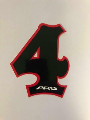 NOS PRO BMX Motocross number plate number 6 White//Black vintage oldschool