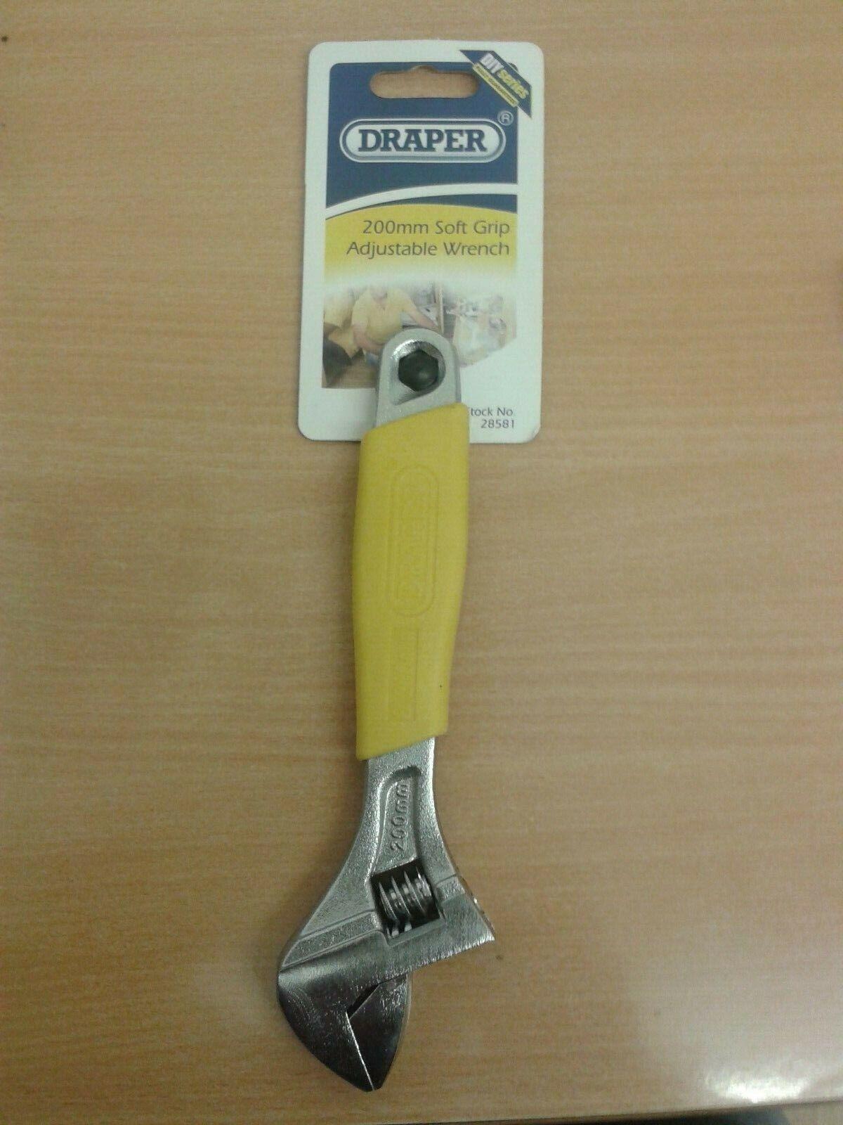 Draper Expert 200mm Soft Grip Crescent-Type Wrench 24894