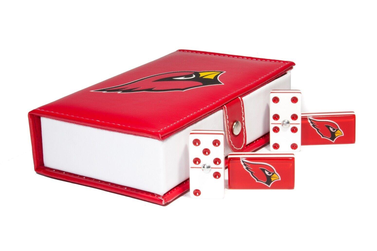 Arizona Cardinals Domino 100% acrylique, en cuir synthétique Case