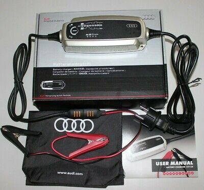 Audi originales batería cargador de batería 12 voltios 5 amperios conservación dispositivo Charger