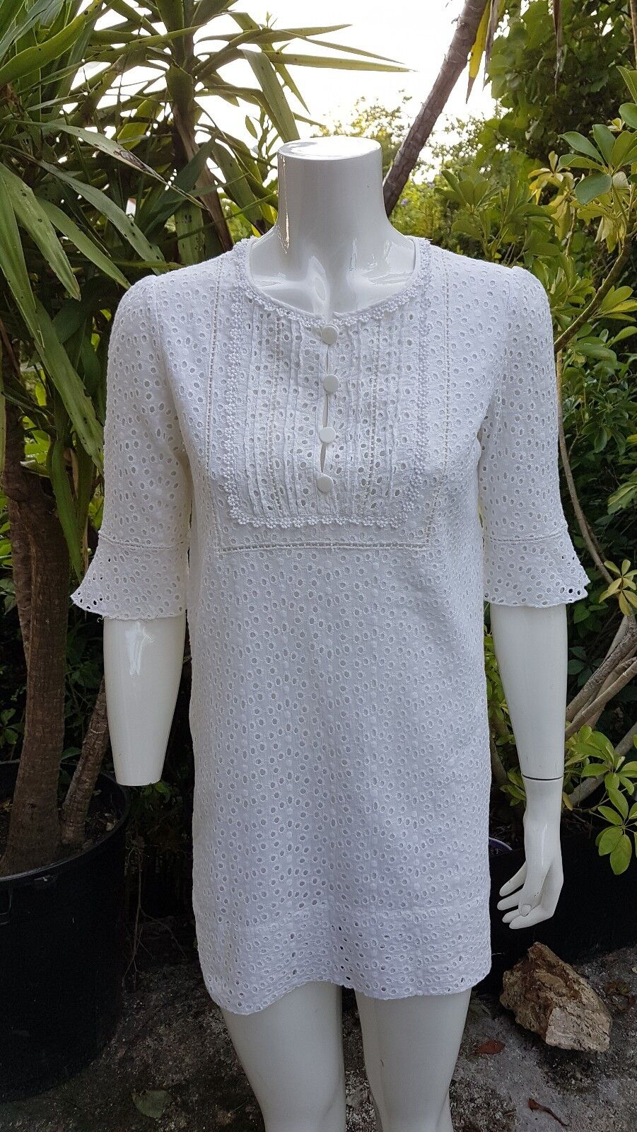 Sublime tunique Pablo Gerard Darel broderie anglaise 38 TBE