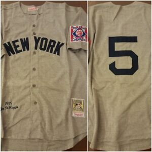 official photos cdd07 5ad7d Details about NY Yankees Legend Joe DiMaggio Grey Replica THROWBACK Size XL  Baseball Jersey