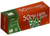 (12) Ea Holiday Wonderland 4057-88 50 Count Green Mini Christmas Light Sets