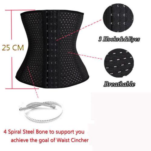 Waist Training Corset Waist Cincher Underbust Tummy Control Slimming Body Shaper