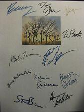 Big Fish Signed Script X11 Tim Burton Danny Elfman Jessica Lange Ewan McGregor