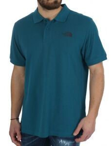 Polo-uomo-cotone-piquet-THE-NORTH-FACE-mod-CG71-col-Blue-Coral-S-S-2018