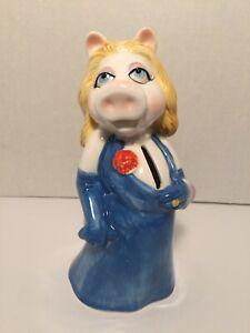 Vintage-Miss-Piggy-Muppets-Piggy-Bank-Sigma-TasteSetter-Jim-Henson-1980-039-s
