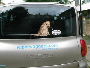 SHAR-PEI-DOG-STICKER-WITH-WIPER-WAGGING-TAIL-FOR-CAR-REAR-WINDSCREEN-NOVELTY