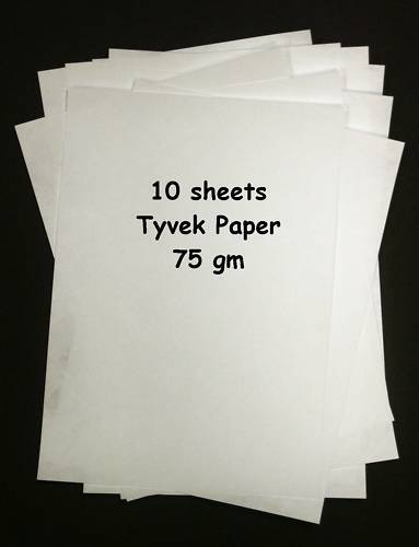 Tyvek A4 75gm Pack of 10 sheets Tyvek Paper