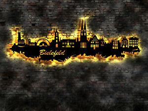 3D LED Deko Lübeck Wandbild Wandtattoo Skyline Wandsticker Aufkleber Buch Reise