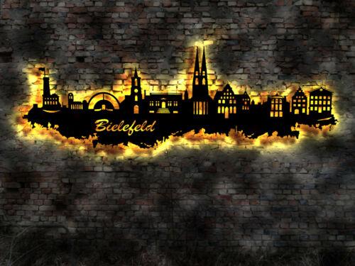 3D LED Deko Bielefeld  Wandtattoo Skyline Wandsticker Aufkleber Buch Reise