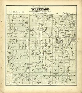 1874 RICHLAND COUNTY plat maps atlas old GENEALOGY Wisconsin history Land P56