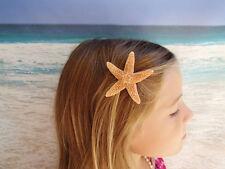 Orange Real Sea Shell Hair Clip Mermaid Beach Costume Fancy Dress Halloween T47
