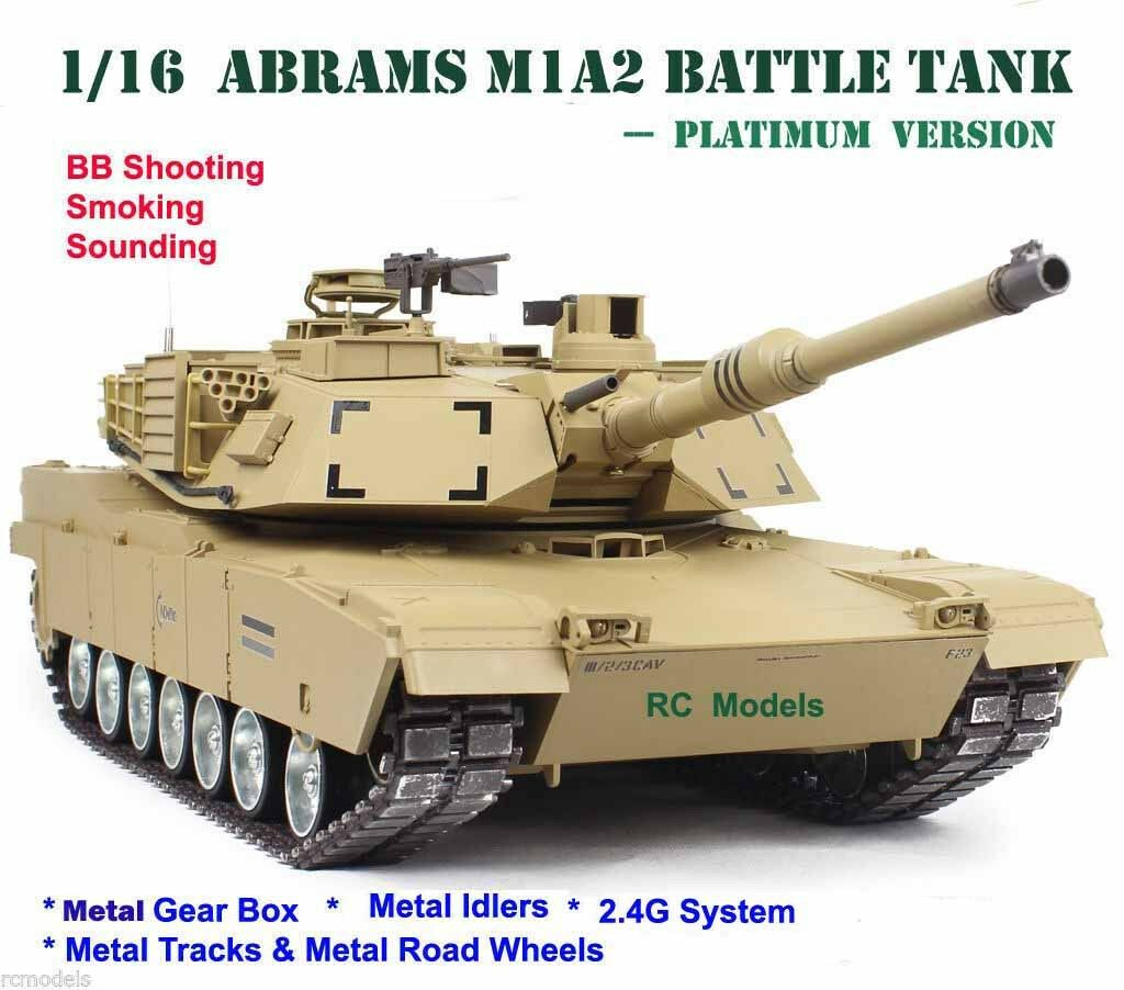 Heng Long Abrams  M1A2 Radio Remote Controlled RC  Tank 1 16 large -- Platinum