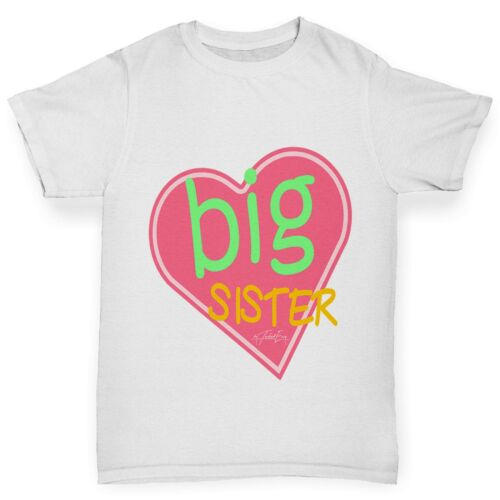 Twisted Envy Girl/'s Big Sister Heart Sibling T-Shirt