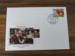 Brief/Letter Roger Federer - Novak Djokovic(Winner), Swiss Indoors 2009