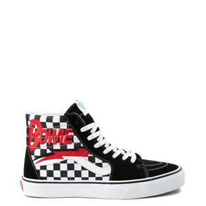 700e79ed50a NEW Vans x David Bowie Sk8 Hi Chex Skate Shoe Black White Red ...
