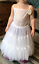Flower-Girl-Net-Prom-Underskirt-Bridesmaid-Hoop-Crinoline-Communion-Petticoat miniatura 3