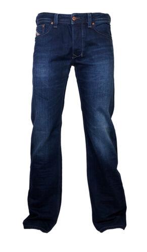 DIESEL Straight Cut Jeans Larkee 0860m blu scuro colori attenuati 30//32 NUOVO